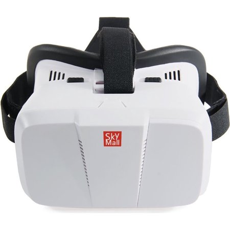 SkyMall Virtual Reality 3D Glasses Headset - For 3D & 360 Movies, Videos & Video Games, Compatible with iPhone & Android VR Apps & (Best App For Virtual Phone Number)