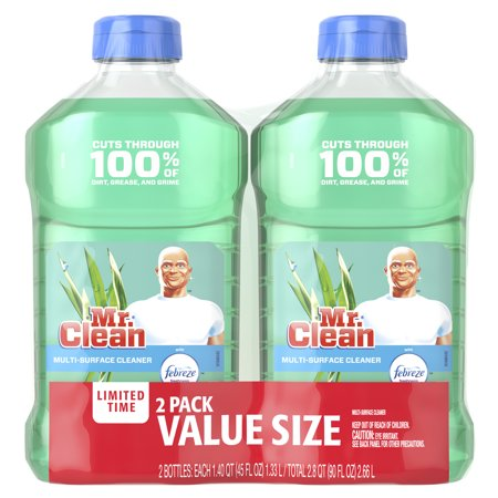 Mr. Clean with Febreze Meadows and Rain Multi-Surface Cleaner, 2 pack, total 90 fl oz