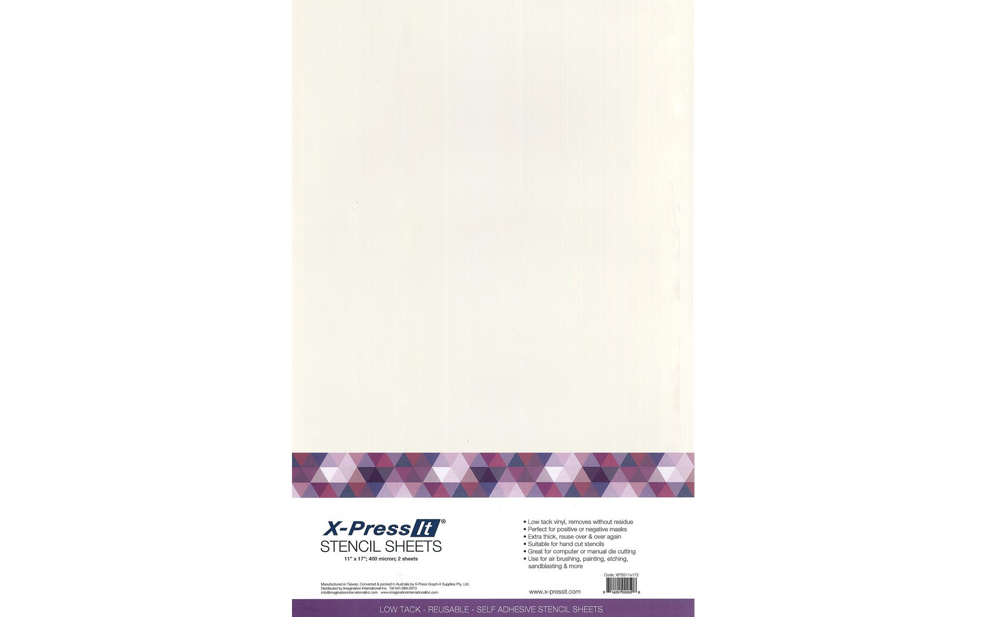 X Press It Stencil Adhesive Sheet 11x17 2pc Walmart Com Walmart Com