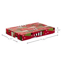 Hallmark Christmas Gift Box Assortment, Patterned Shirt Boxes With Lids, Set of 12