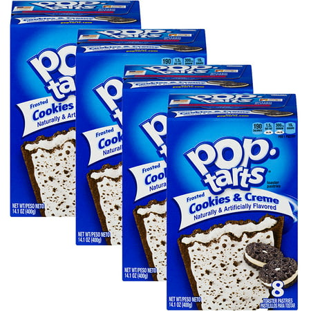 (4 Pack) Kellogg's Pop-Tarts Breakfast Toaster Pastries, Frosted Cookies and Creme, 14.1 oz 8 Ct](Easy Halloween Pastries)