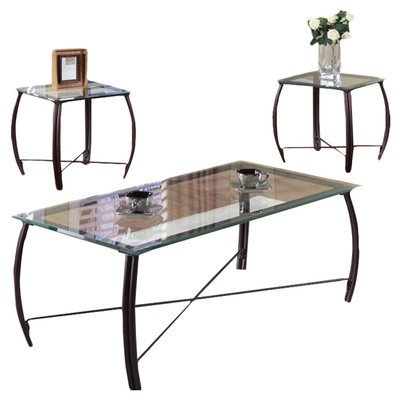 Inroom designs 3 piece coffee table set In room designs