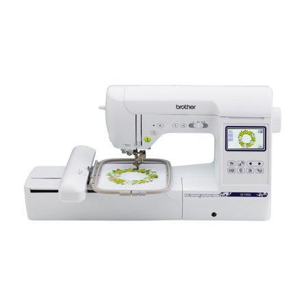"Brother SE1900 Computerized sewing and embroidery machine with 5""x7"" embroidery field and large color touch LCD screen"