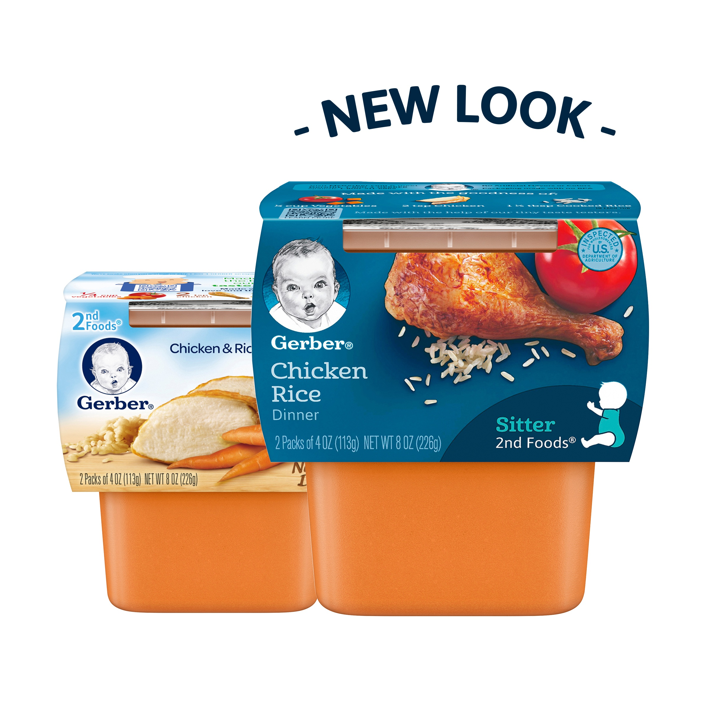 <mark>Gerber</mark> 2nd <mark><mark>Food</mark>s</mark> Nutritious Dinners Chicken & Rice <mark>Baby</mark> <mark>Food</mark>, 4 oz Tubs, 2 Count