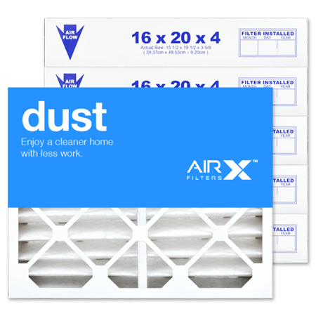 AIRx Filters Dust 16x20x4 Air Filter MERV 8 Replacement for White Rodgers FR1000M-108 FR1000M-111 to Fit Media Air Cleaner Cabinet White Rodgers ACM1000M, 6-Pack