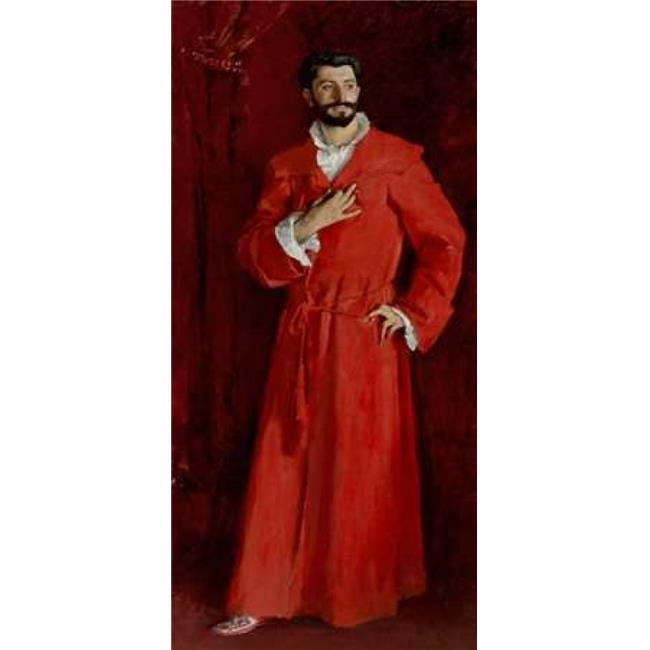 Bentley Global Arts PDX374209SMALL Doctor Pozzi At Home 1881 Poster Print by John Singer Sargent, 10 x 20 - Small - image 1 of 1
