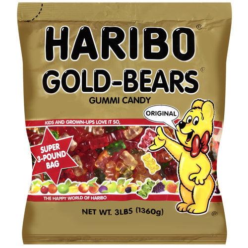 Haribo Gold-Bears Original Gummi Candy, 3 lb