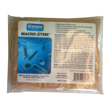 Image of Macro-zyme Pond Bacteria Enzymes Water Treatment for Muck, Sludge, Silt, Odor (4 x 8oz. bag)