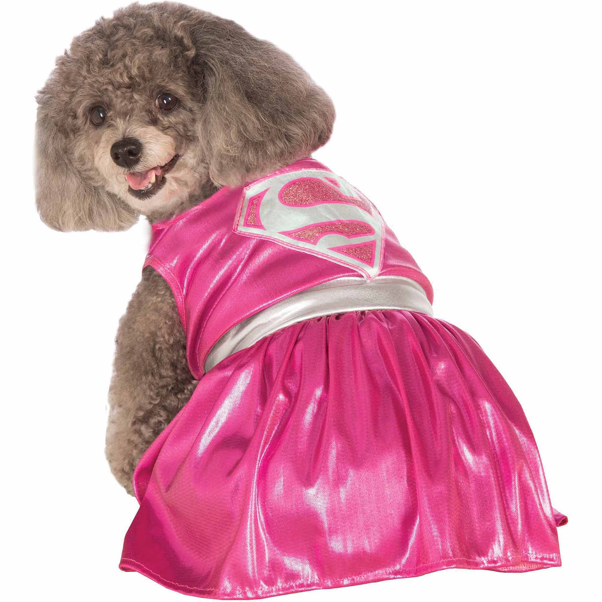 Pink Supergirl Halloween Pet Costume (Multiple Sizes Available)