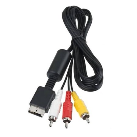 For PS3 PS3 PS2 Video Cord Slim to TV AV Composite PS1 Audio RCA Cable