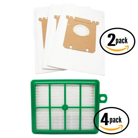 6 Replacement Electrolux EL7001A Vacuum Bags & 4 Filter - Compatible Electrolux S-Bag Vacuum Bag & EL012B Filter - image 4 of 4