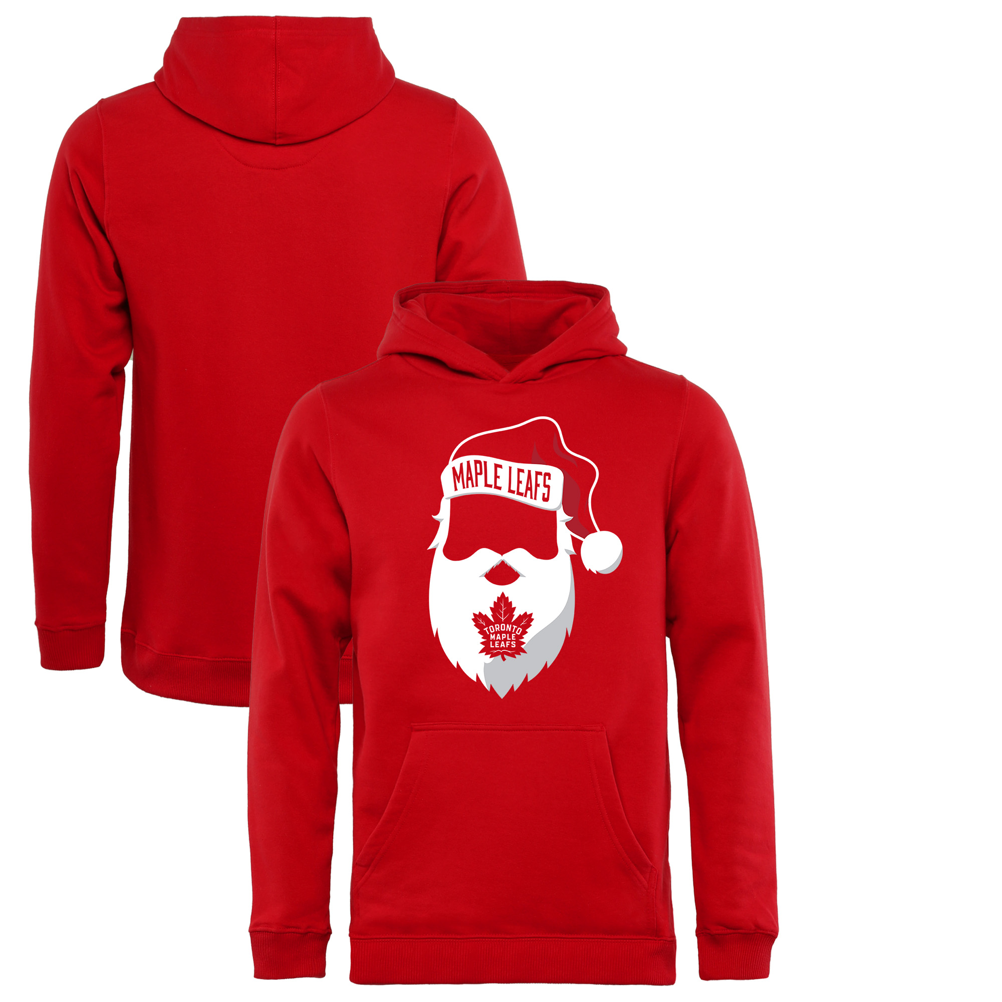 Toronto Maple Leafs Fanatics Branded Youth Jolly Pullover Hoodie - Red