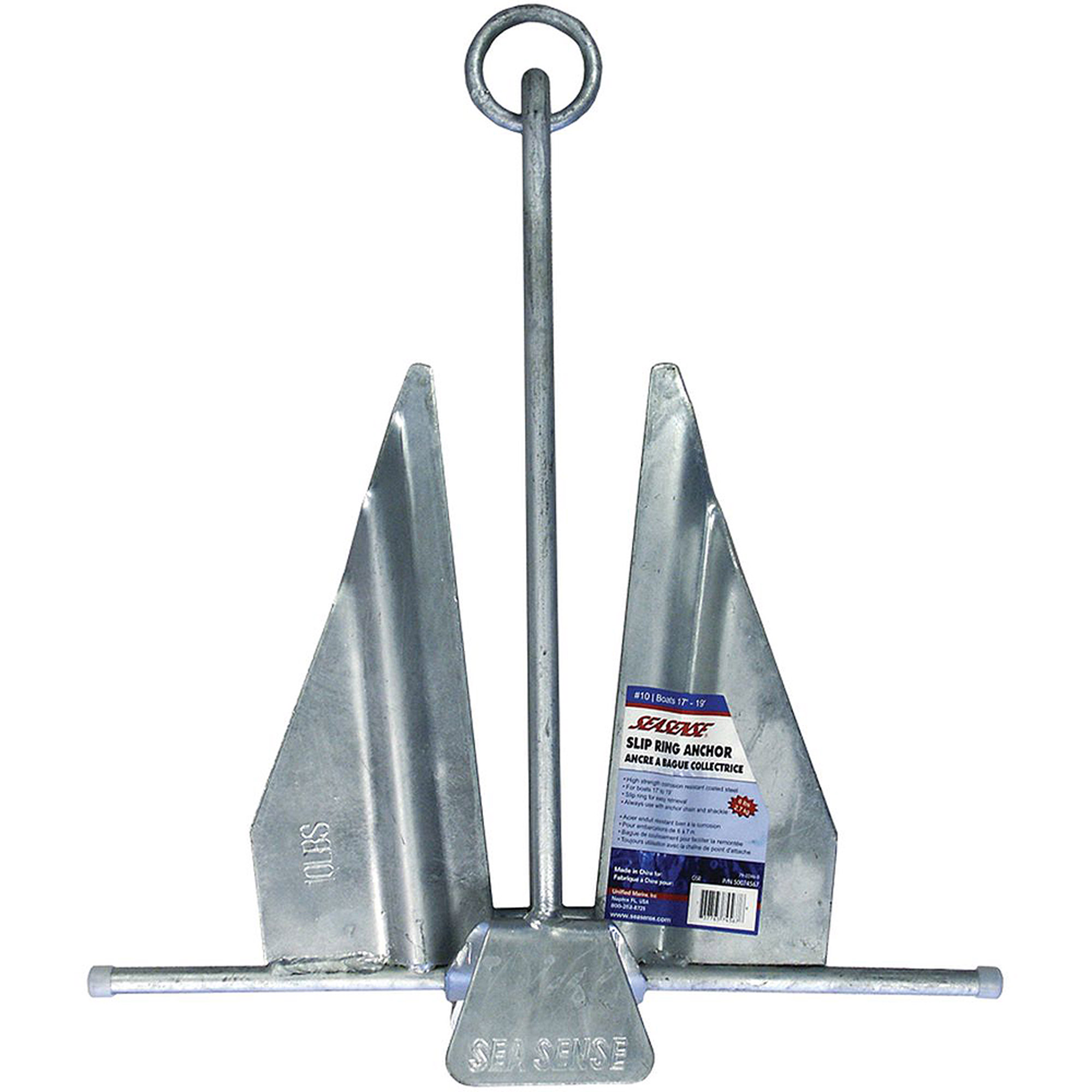 SeaSense #7 Galvanized Slip-Ring Economy Anchor