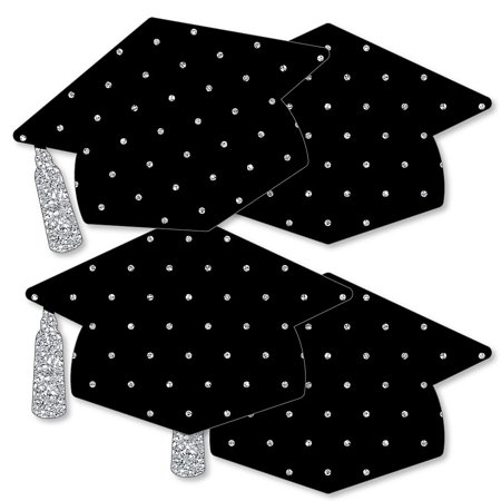 Silver - Tassel Worth The Hassle - Grad Cap Decorations DIY Graduation Party Essentials - Set of 20 - Diy Graduation Cap Decorations