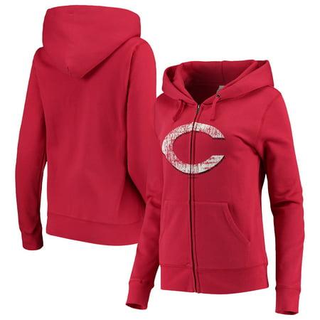 huge selection of 6d537 c4eba Cincinnati Reds 5th & Ocean by New Era Women's Core Fleece Hoodie - Red