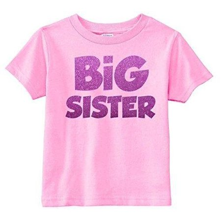 - Lil Shirts Little Girls Glitter Big Sister Youth & Toddler Graphic Tee