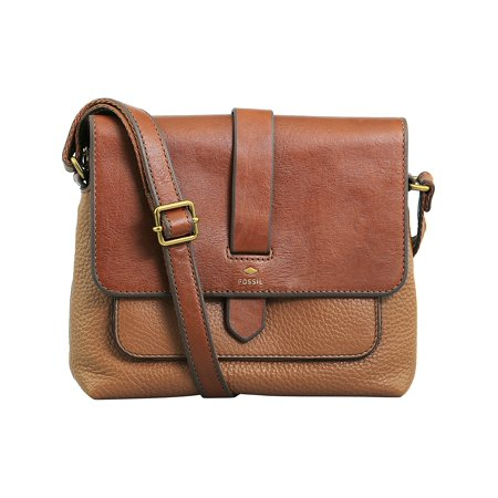 - Fossil Women's Small Kinley Crossbody Leather Cross Body Bag Satchel - Brown
