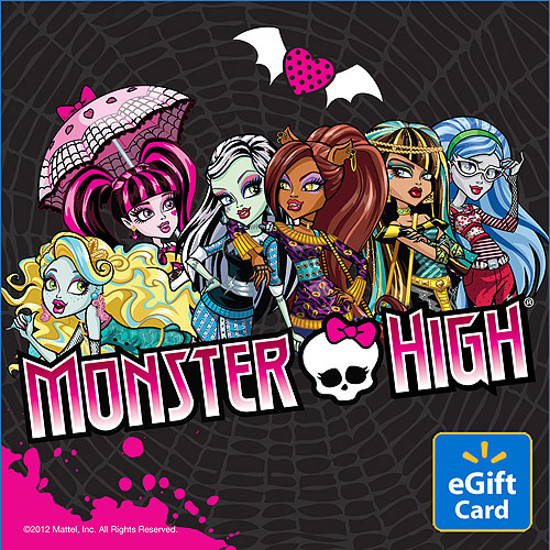 Monster High Walmart eGift Card