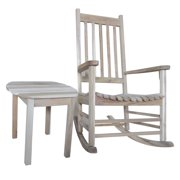 Unfinished Porch Rocker and Side Table