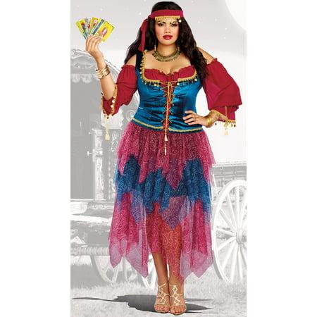 Dreamgirl Women's Plus-Size Gypsy Costume - Homemade Gypsy Costume
