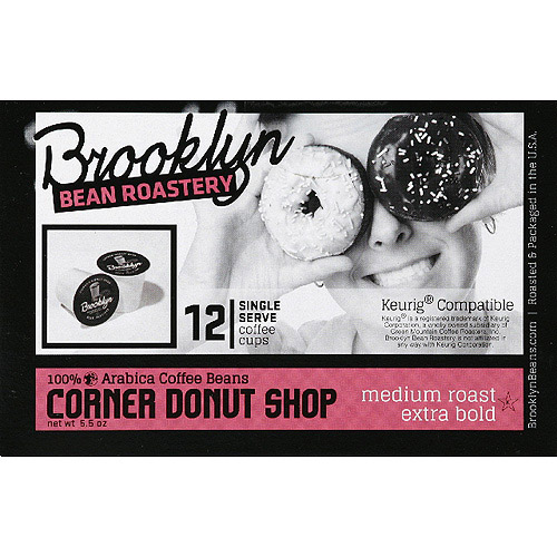 Brooklyn Bean Roastery Corner Donut Shop Coffee K-Cups, 12 count, (Pack of 6)