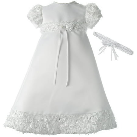 246e11046 Newborn Baby Girl Christening/Special Occasion/Flower Girl White Dresses  and Accessories Collection, Ages 0-24Months