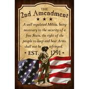 Reflective Art 2nd Amendment Vintage Advertisement