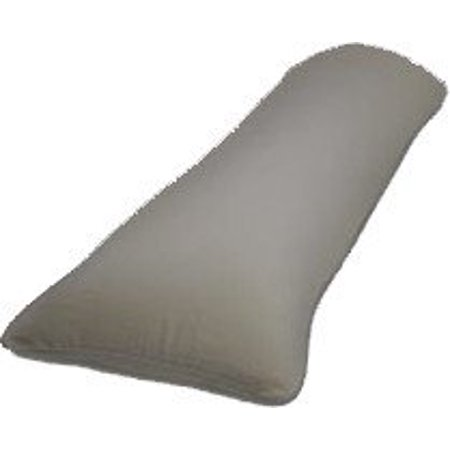 Crescent Bedding 1800 Series Soft and Comfy Microfiber Body Pillow Cover, Grey