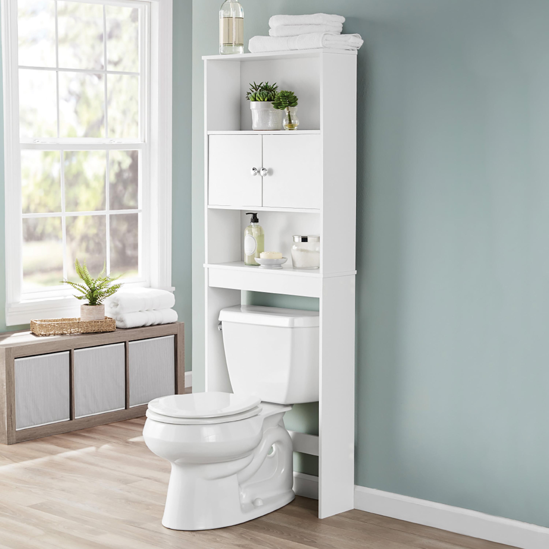 Bathroom Storage Over The Toilet Space, Bathroom Toilet Storage