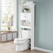 Mainstays Bathroom Storage over the Toilet Space Saver with 3 Fixed Shelves, White