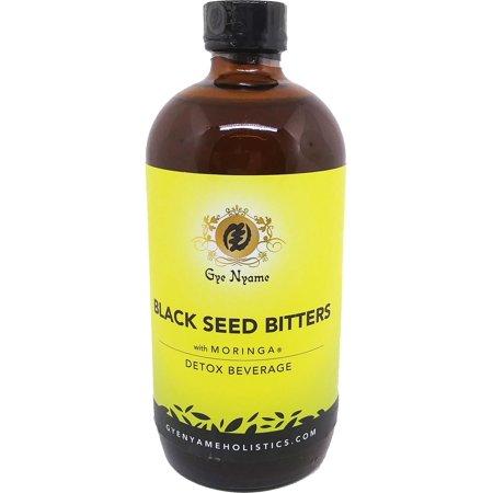 Gye Nyame Black Seed Bitters Detox Beverage with Moringa [Brown - 16 (Gye Nyame Ring)