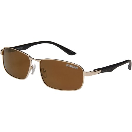 NASCAR CLUTCH Polarized Sunglasses, Men's 6, Gold - Nascar Tips