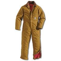Carhartt 40 Regular Brown Quilt Lined 12 Ounce Cotton Duc...