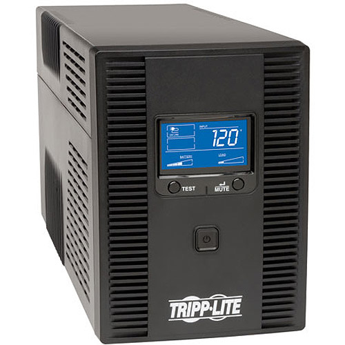 Tripp Lite 1500VA UPS Battery Backup, AVR, LCD, Line Interactive, 10 Outlets, 120V, USB, TEL & Coax Protection (OMNI1500LCDT)