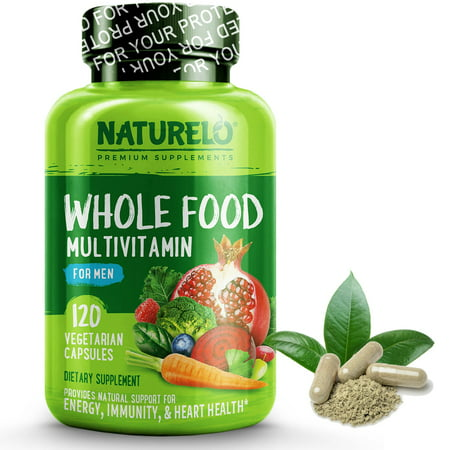 Whole Food Multivitamin for Men - Vegan/Vegetarian - 120 Capsules