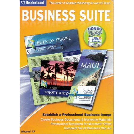 Broderbund Business Suite CDRom - Make Business Cards, Letterhead, Newsletters, Company Calendars, Advertisements + (Broderbund 3d Home Architect Design Deluxe 8)