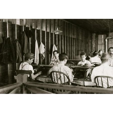 Cigar makers in factory of Filogamo & Alvarez Tampa Fla Work was slack Poster -