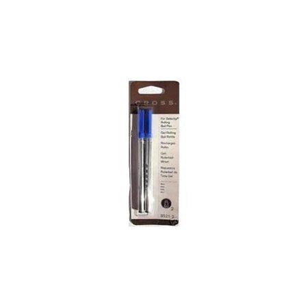 Cross Blue Gel Ink Rolling Ball Refill 12 Pack for Selectip Pens - 12 Refills Cross Atx Selectip Rolling Ball