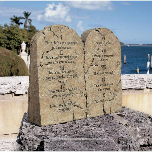 Design Toscano Ten Commandments Sculptural Tablet