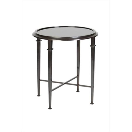 Navy Go0055f Quentin Bronze Four Legged Accent Table With Black Granite