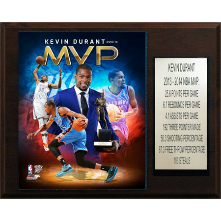C&I Collectables NBA 12x15 Kevin Durant Oklahoma City Thunder 2013-14 MVP Plaque (Kevin Durant Party Supplies)