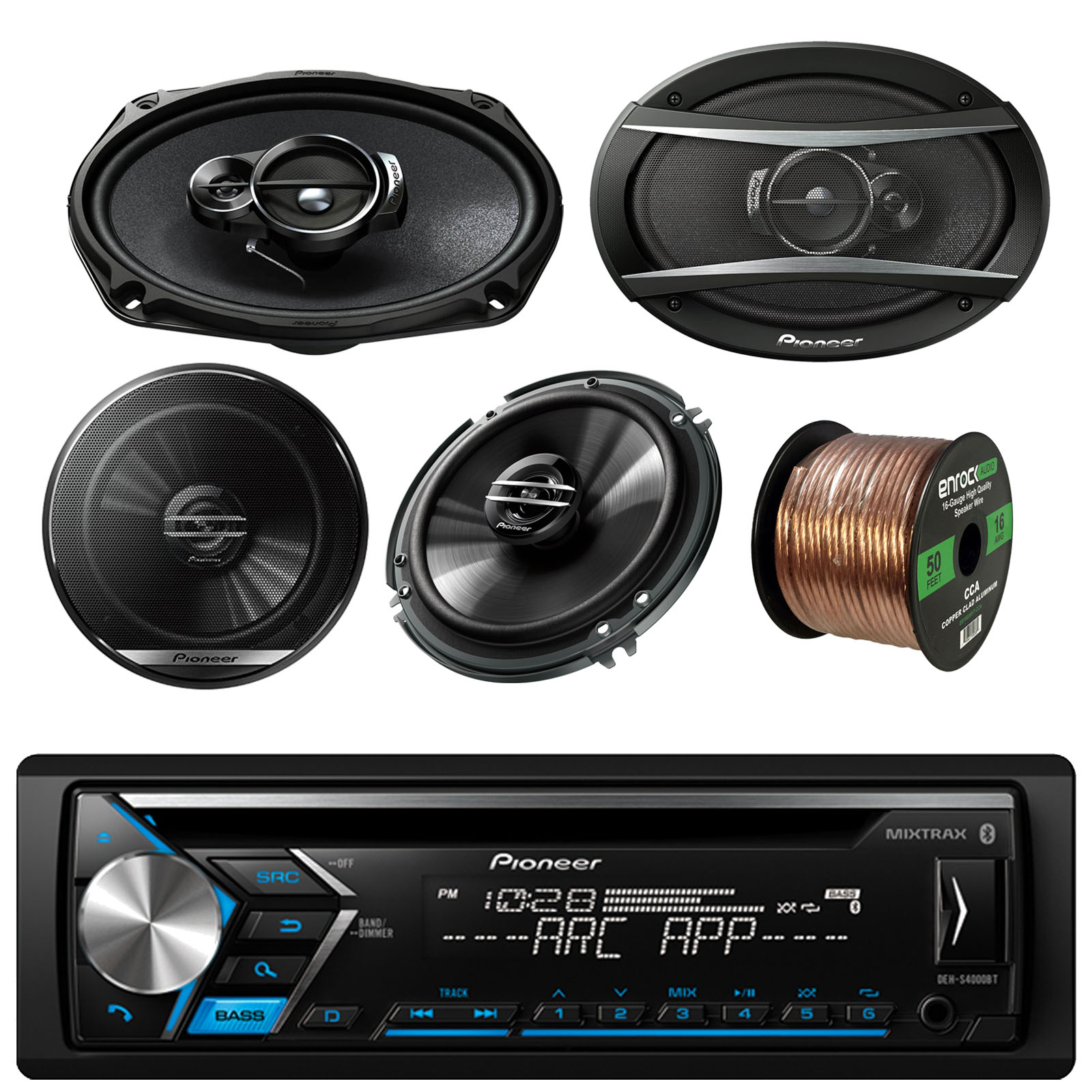 Pioneer car audio bundle walmart 3
