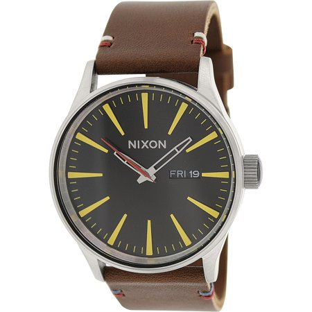 Nixon Men's Sentry A105019 Brown Leather Quartz Fashion Watch
