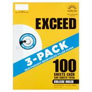 Norcom Exceed Heavyweight Reinforced Filler Paper, 3 Pack