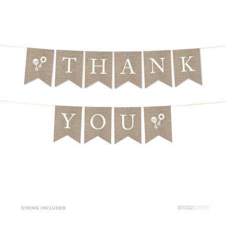 Thank You Banner (Thank You! Burlap Pennant Party)