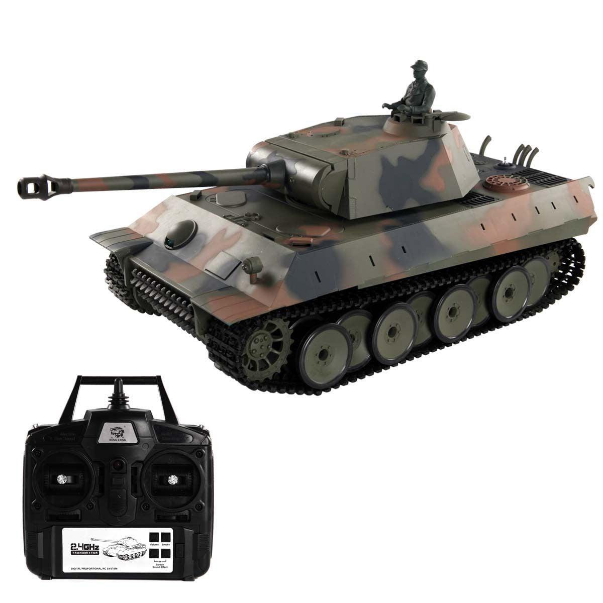 Costway 1:16 2.4G German Panther RC Battle Tank Smoke & Sound Remote Control by Costway