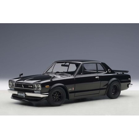 Nissan Skyline Gt R  Kpgc10  Tuned Version Black 1 18 Diecast Model Car By Autoart