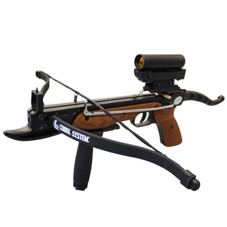 SAS Prophecy 80 lbs Self-cocking Mini Crossbow Red Dot Sight Package
