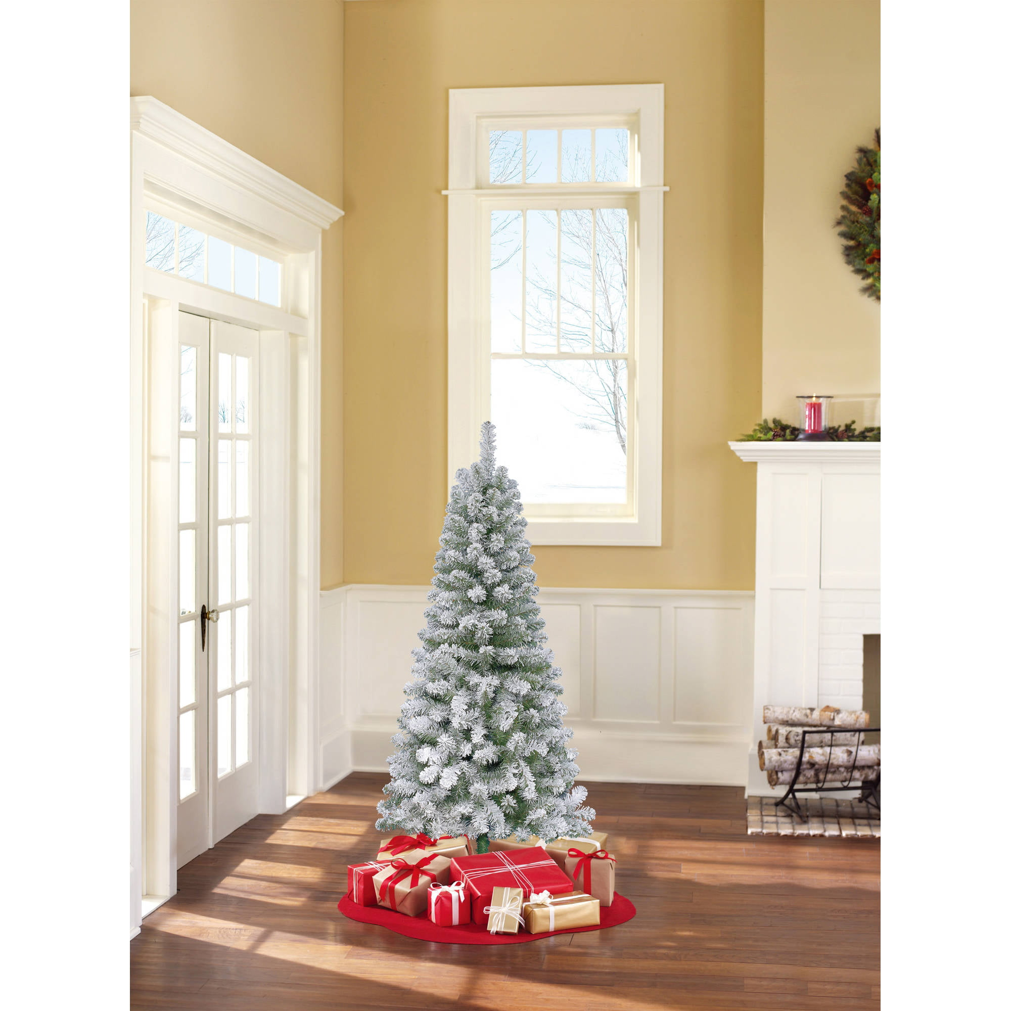 Holiday Time Unlit 6' Greenwood Pine Artificial Christmas Tree ...