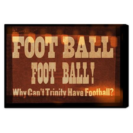 Hatcher & Ethan Trinity Football Canvas Wall Art - Walmart.com